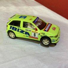 Scalextric: SCALEXTRIC. COCHE SEAT IBIZA KIT-CAR. VERDE. REPSOL. AÑOS 90. TYCO. Lote 268429084
