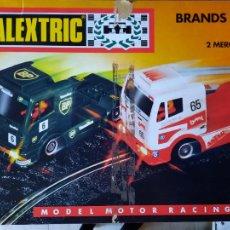 Scalextric: SCALEXTRIC CAMIONES BRANDS HATCH,TYCO,CON SUS CAMIONES CON LUCES Y ACCESORIOS. Lote 286646013