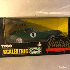 Scalextric: JAGUAR-E VINTAGE VERDE N4 SCALEXTRIC TYCO REF.8371. Lote 295788683