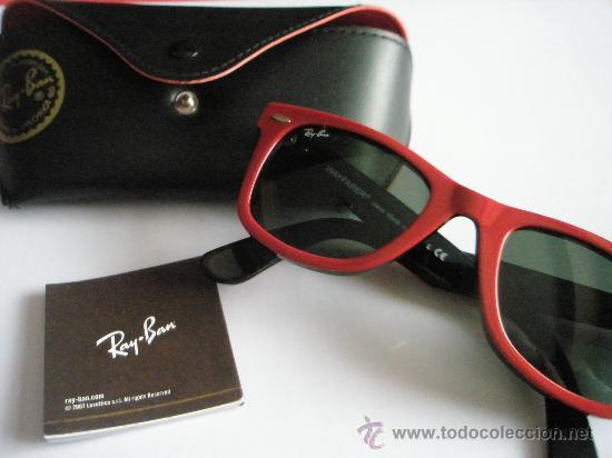 gafas de sol rayban rojas
