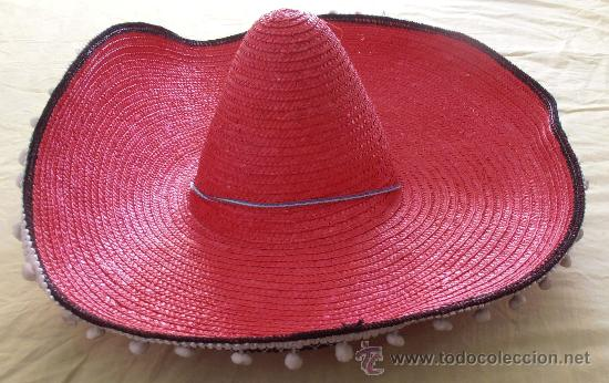 sombrero mexicano color rojo - Comprar ropa y complementos de ... df12eb2f438