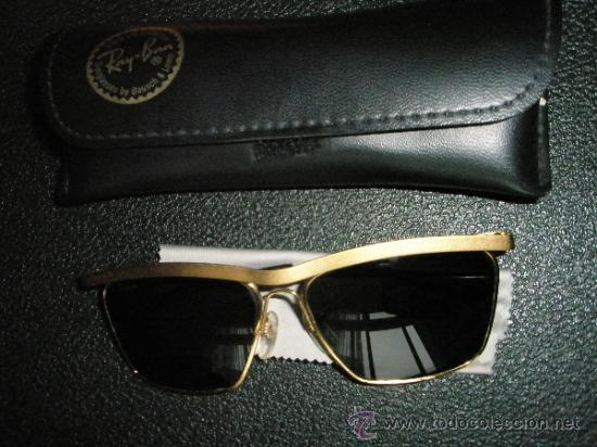 lentes ray ban de oro