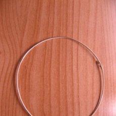 Segunda Mano: ARGOLLA EN PLATA 950MMG PUREZA CON CIERRE. 12 CM DIÁMETRO AÑO 1996. Lote 36658863