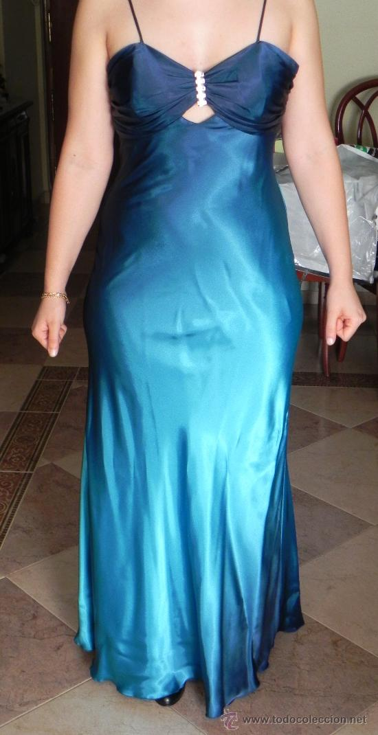 42db30da3 vestido fiesta en azul turquesa-eventos.....pre - Comprar ropa y ...