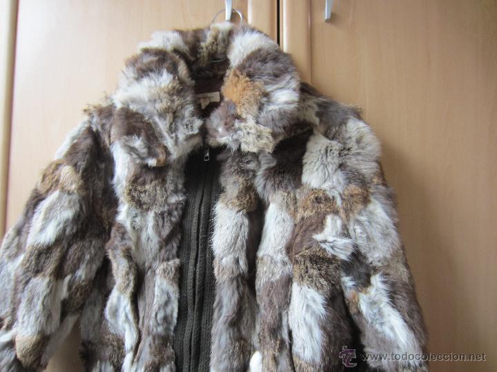 Segunda Mano: Cazadora de piel de zorro combinada con lana , talla L - Foto 2 - 154733406