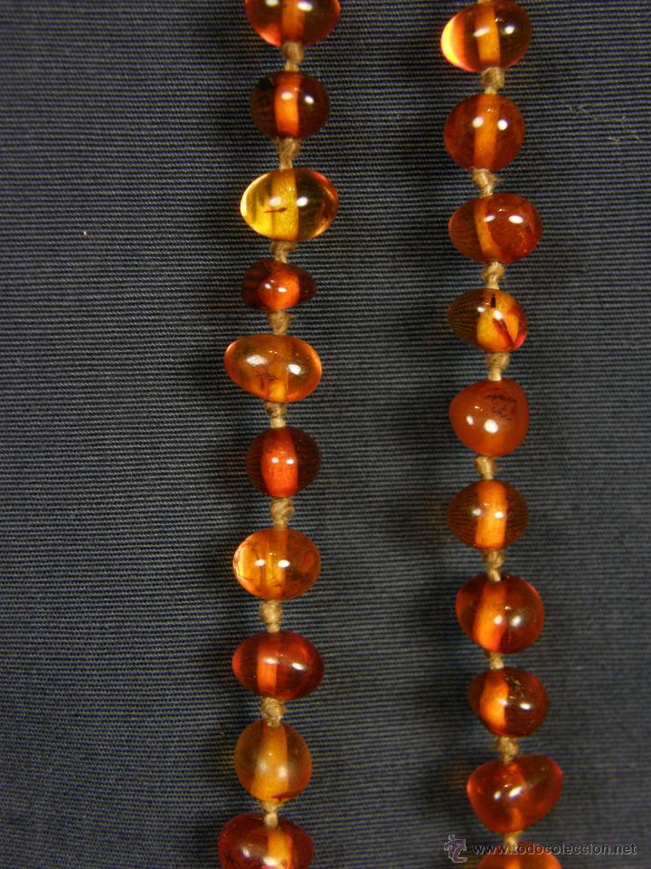 Segunda Mano: collar ambar cuentas claras esféricas irregulares en disminución 1º mitad siglo XX largo cerrado26cm - Foto 2 - 44388287
