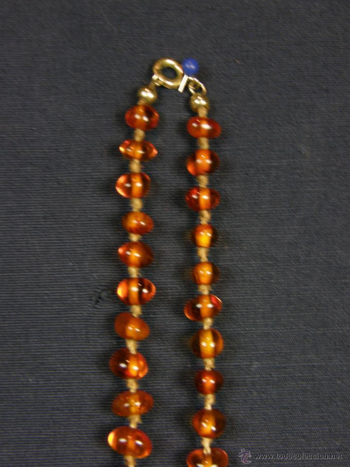 Segunda Mano: collar ambar cuentas claras esféricas irregulares en disminución 1º mitad siglo XX largo cerrado26cm - Foto 3 - 44388287