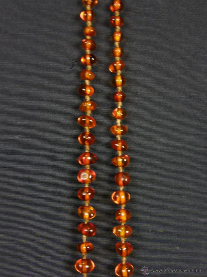 Segunda Mano: collar ambar cuentas claras esféricas irregulares en disminución 1º mitad siglo XX largo cerrado26cm - Foto 4 - 44388287