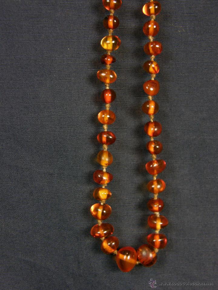 Segunda Mano: collar ambar cuentas claras esféricas irregulares en disminución 1º mitad siglo XX largo cerrado26cm - Foto 5 - 44388287
