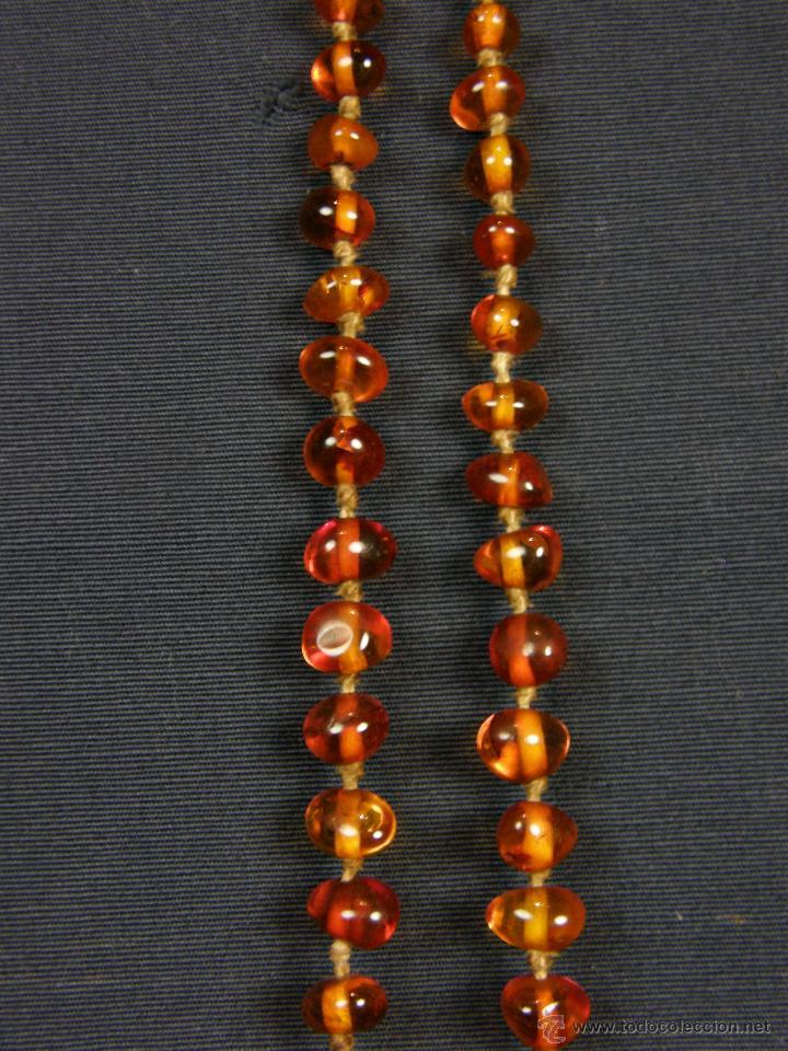 Segunda Mano: collar ambar cuentas claras esféricas irregulares en disminución 1º mitad siglo XX largo cerrado26cm - Foto 6 - 44388287