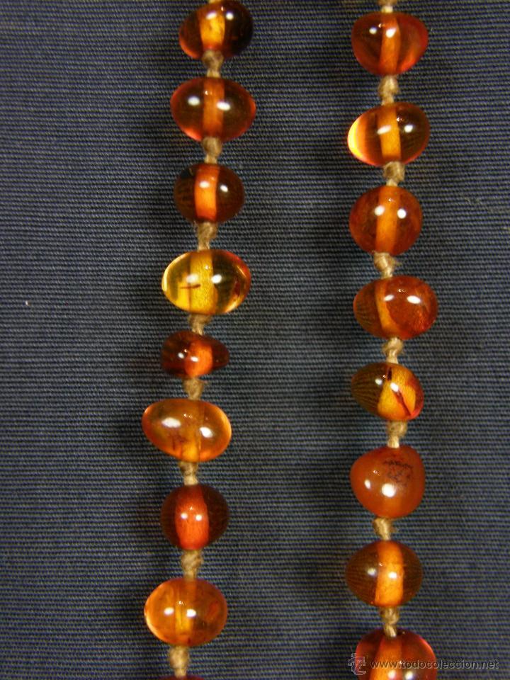 Segunda Mano: collar ambar cuentas claras esféricas irregulares en disminución 1º mitad siglo XX largo cerrado26cm - Foto 7 - 44388287