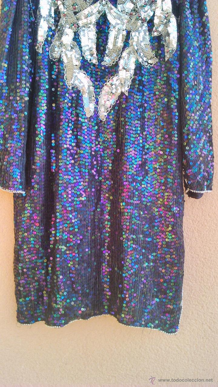 Segunda Mano: Precioso vestido de fiesta estilo vintage,completamente de lentejuelas.Made in India.Talla 40 - Foto 3 - 46000879