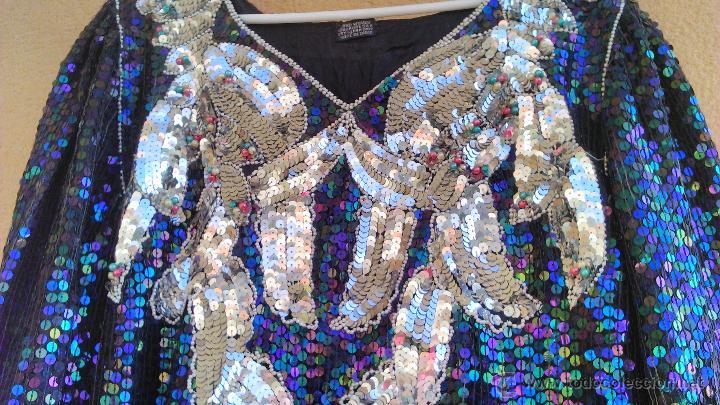 Segunda Mano: Precioso vestido de fiesta estilo vintage,completamente de lentejuelas.Made in India.Talla 40 - Foto 4 - 46000879