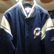 Segunda Mano: CHAQUETA CAZADORA NFL MIAMI DOLPHINS OFICIAL IMPORTADA USA REEBOK FOOTLOCKER 2005.. Lote 48401341