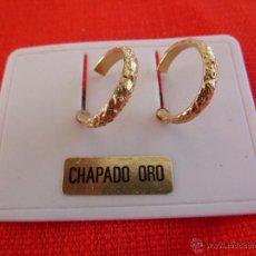 Segunda Mano: F 1714 PENDIENTES DE ARO CON GRABADO CHAPADOS EN ORO. Lote 192754880