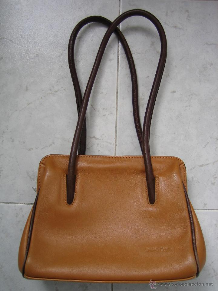 f2723b253 bolso de señora en piel marrón claro. medidas 2 - Comprar ropa y ...