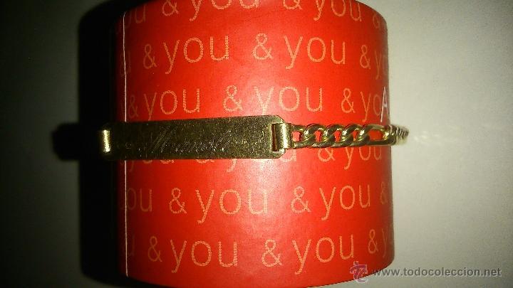 7f39c4bef2ab Segunda Mano  antigua pulsera dorada. Tiene grabada nombre manoli y 19 9