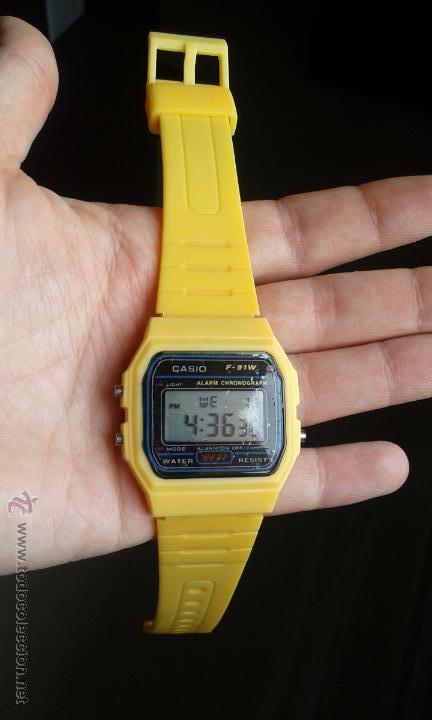 67c23d55758 reloj casio f-91 modelo vintage color amarillo - Comprar ropa y ...