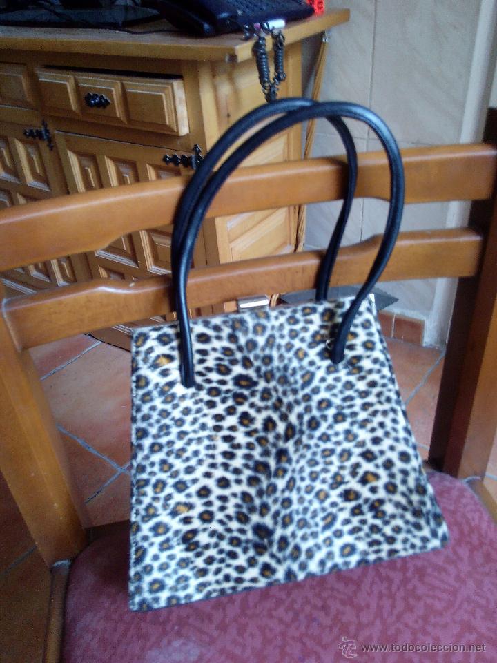 Segunda Mano: Precioso bolso de fiesta de terciopelo ,estampado de leopardo. - Foto 2 - 50481255