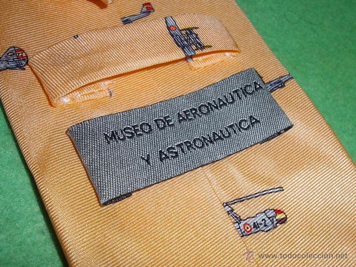 Segunda Mano: Genial corbata Salinero Museo Aeronáutica Astronáutica jacquard 100% seda natural hecha a mano Avion - Foto 4 - 53603698