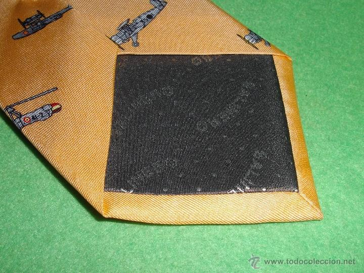 Segunda Mano: Genial corbata Salinero Museo Aeronáutica Astronáutica jacquard 100% seda natural hecha a mano Avion - Foto 5 - 53603698
