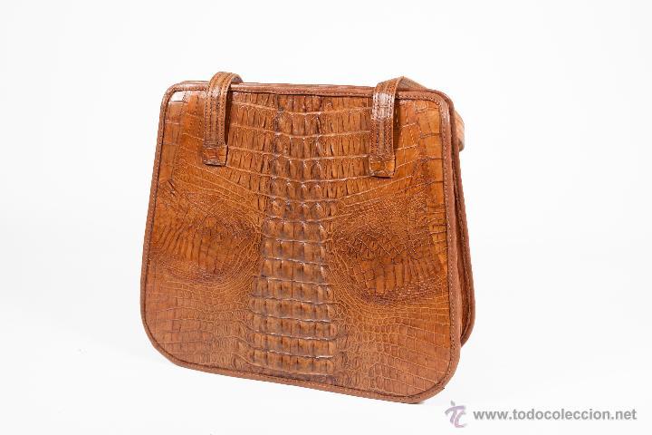 Segunda Mano: Precioso bolso en piel de cocodrilo. Artesanal. Año 1990 - Foto 2 - 38603222