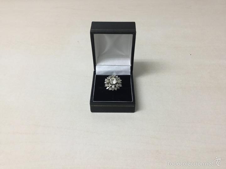 Segunda Mano: Anillo de plata de ley rosetón con circonitas precioso - Foto 5 - 56401306