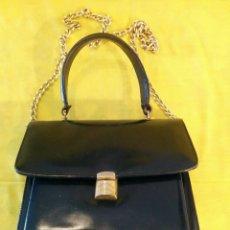 Segunda Mano - Bolso piel azul vintage antiguo elegante - 57339093