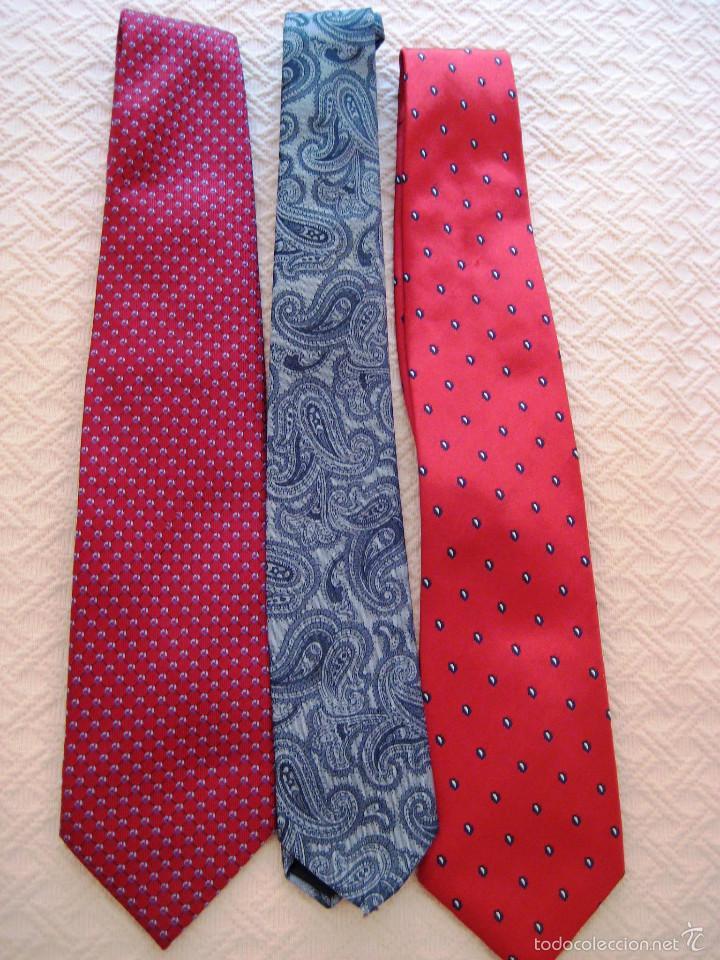 Segunda Mano: 3 corbatas de vestir-caballero- de marca- - Foto 2 - 59653003