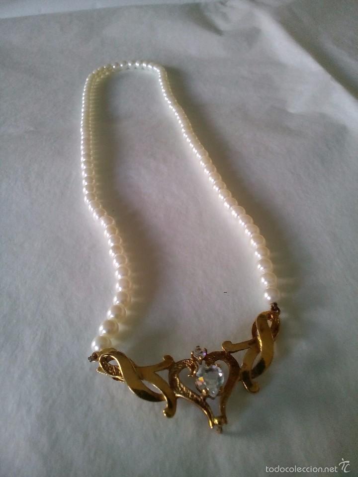 Collar perlas con broche de plata sobredorada comprar - Ropa segunda mano cordoba ...