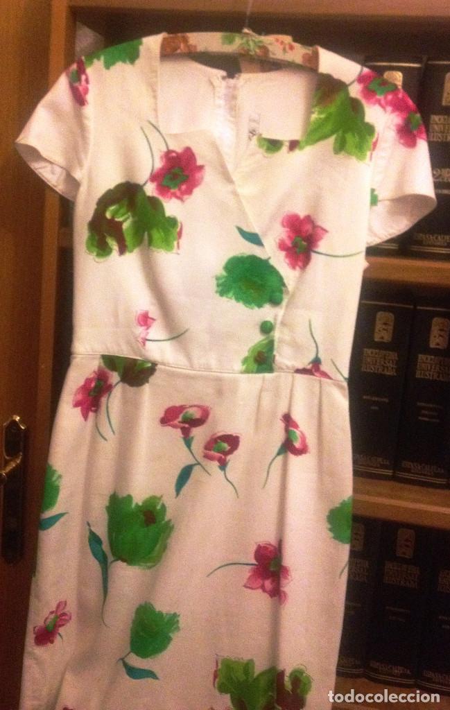 Segunda Mano: Vestido piqué fino, blanco estampado de vestir- T: 40- 42 - Foto 2 - 61861340