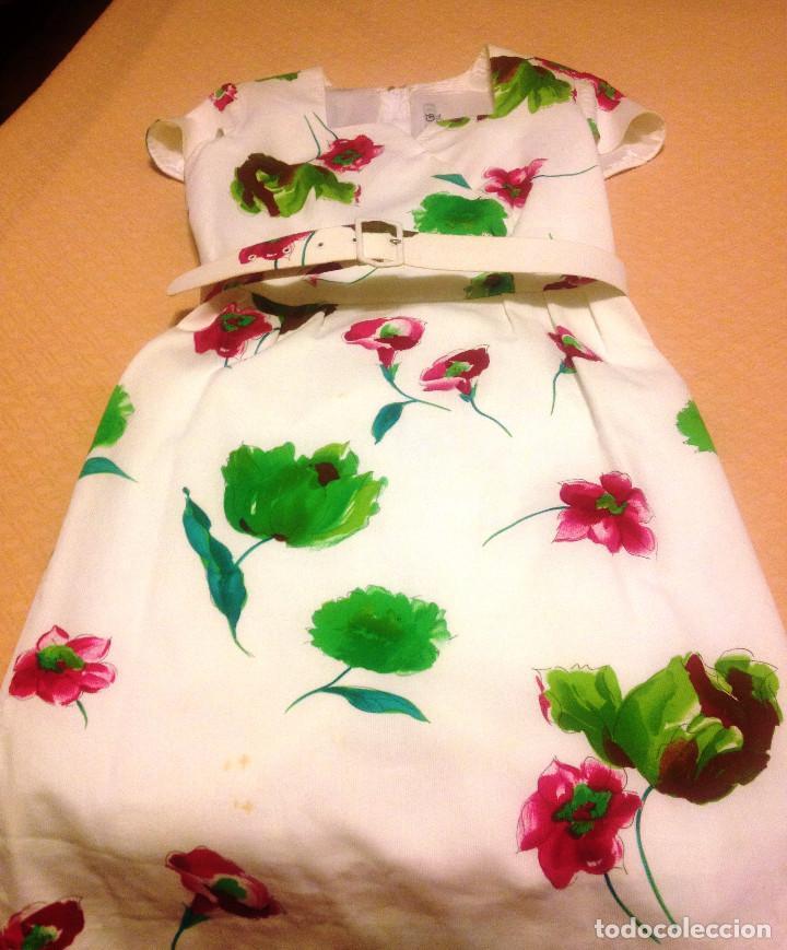 Segunda Mano: Vestido piqué fino, blanco estampado de vestir- T: 40- 42 - Foto 3 - 61861340