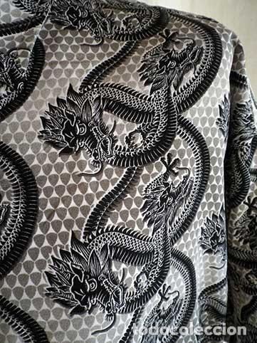 Hombre Talla L En Camisa Vendido Con Dragones Negros Subasta Drago bf76Yyg