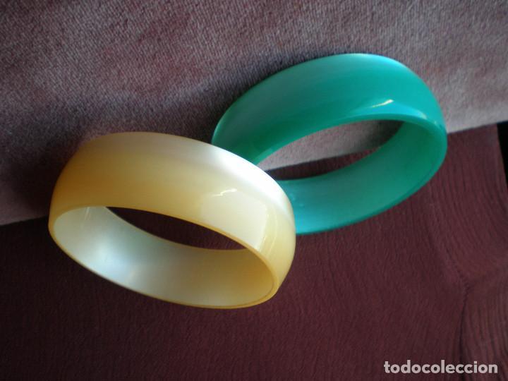 5b522d3888cf Lote 2 pulsera esclava brazalete aro plastico, - Vendido en Venta ...