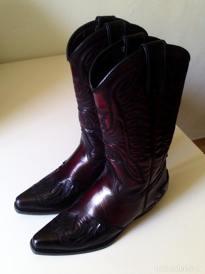 0bb309b32d botas tejanas joe sánchez negro y burdeos númer - Comprar ropa y ...