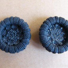 Segunda Mano: LOTE 2 BOTONES GRANDES NEGROS - DIAMETRO 5 CENTIMETROS. Lote 78449797