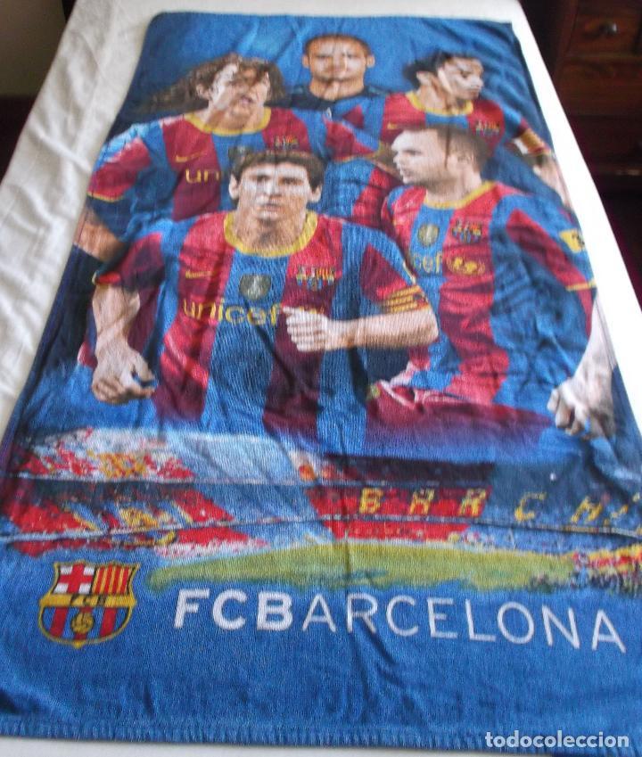 185d4b55576d3 Segunda Mano  sabana + funda almohada y toalla de baño del F.C.Barcelona -  Foto
