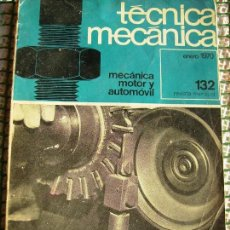 Segunda Mano: **REVISTA MENSUAL DE,---TECNICA MECANICA---ENERO 1970 Nº 132 64 PAG. (23 X 16 CM). Lote 81270880