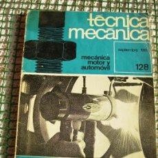 Segunda Mano: **REVISTA MENSUAL DE,---TECNICA MECANICA---SEPTIEMBRE 1969 Nº 128 64 PAG. (23 X 16 CM). Lote 81271104