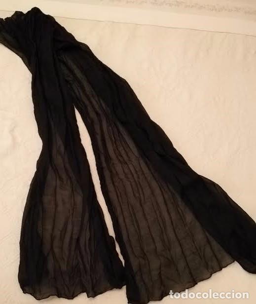 Segunda Mano: F 13 Foulard básico negro - 100cm x 50cm - Foto 3 - 82222016
