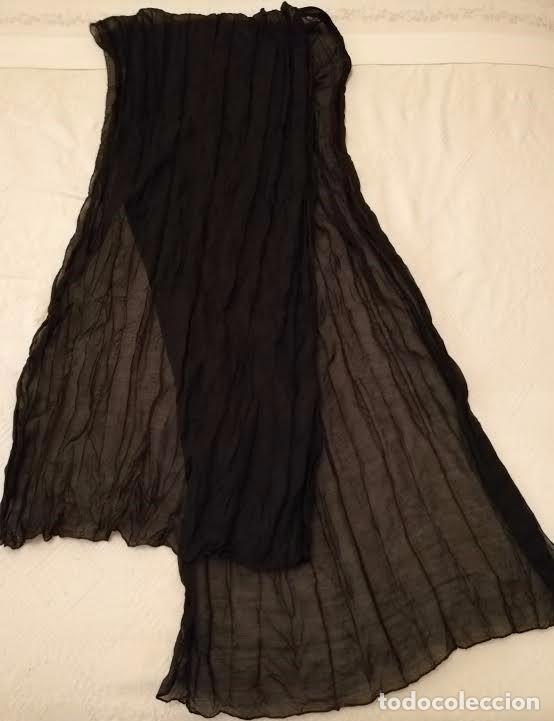 Segunda Mano: F 13 Foulard básico negro - 100cm x 50cm - Foto 4 - 82222016