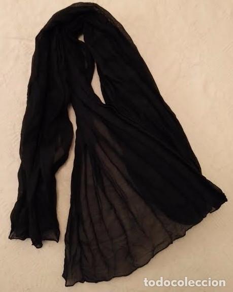 Segunda Mano: F 13 Foulard básico negro - 100cm x 50cm - Foto 6 - 82222016