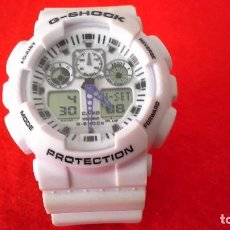 Segunda Mano: RELOG DIGITAL CASIO G-SHOOK PROTECTION BLANCO. Lote 87589908