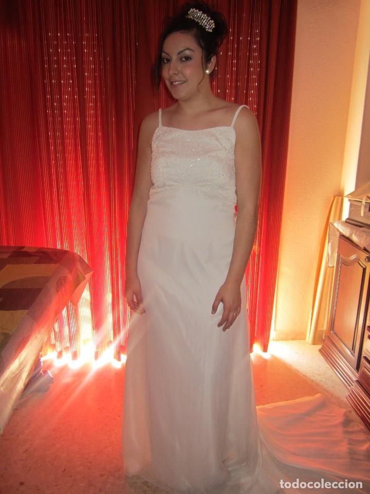 vestido de novia. blanco roto. pedreria en el p - comprar ropa y