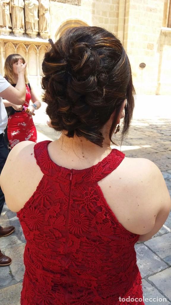 Segunda Mano: Vestido de fiesta rojo de encaje - Foto 3 - 98475211