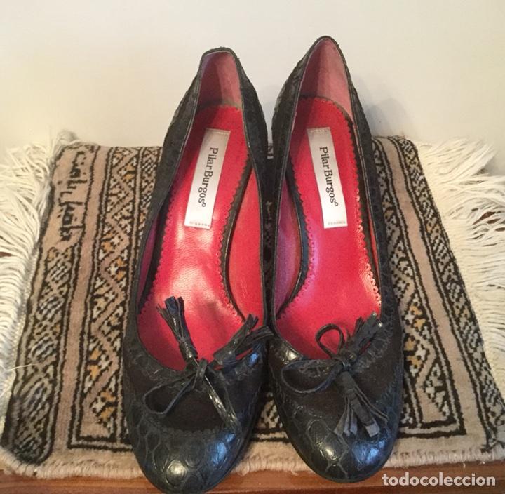Preciosos Piel Zapatos Pilar De Burgos sQthrdC