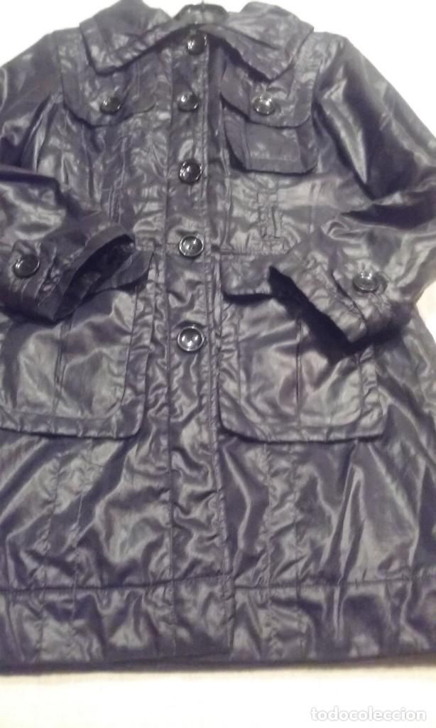 abrigo gabardina negro segunda mano