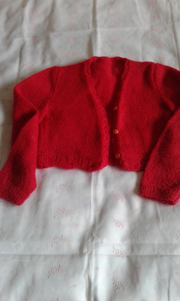 Segunda Mano: Chaqueta niña talla tres a cuatro años realizada a mano - Foto 2 - 108754079