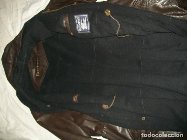 Abrigo piel marrón hombre Burberrys. segunda mano
