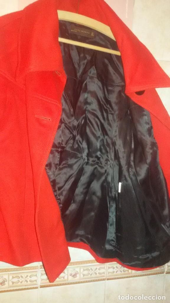 Segunda Mano: Abrigo rojo de señora tipo capa con manga francesa.zara woman made in spain,talla l - Foto 6 - 109405067